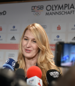 Tennis star Steffi Graf a guest at the German House © picture alliance