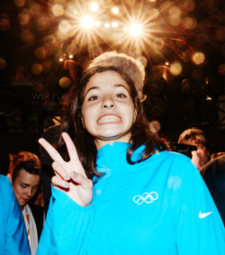 Swimmer Yusra Mardini seen at the German House © picture alliance