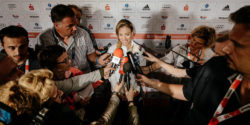 Tennis player Angelique Kerber at the German House after winning the silver medal © picture alliance